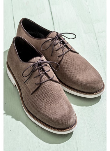Elle Bağcıklı Ayakkabı Vizon